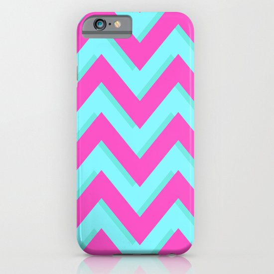3D CHEVRON TEAL & PINK iPhone & iPod Case