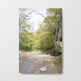 Rocky Riverbed in the Summer Metal Print
