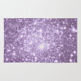 Lilac Galaxy Sparkle Stars Rug