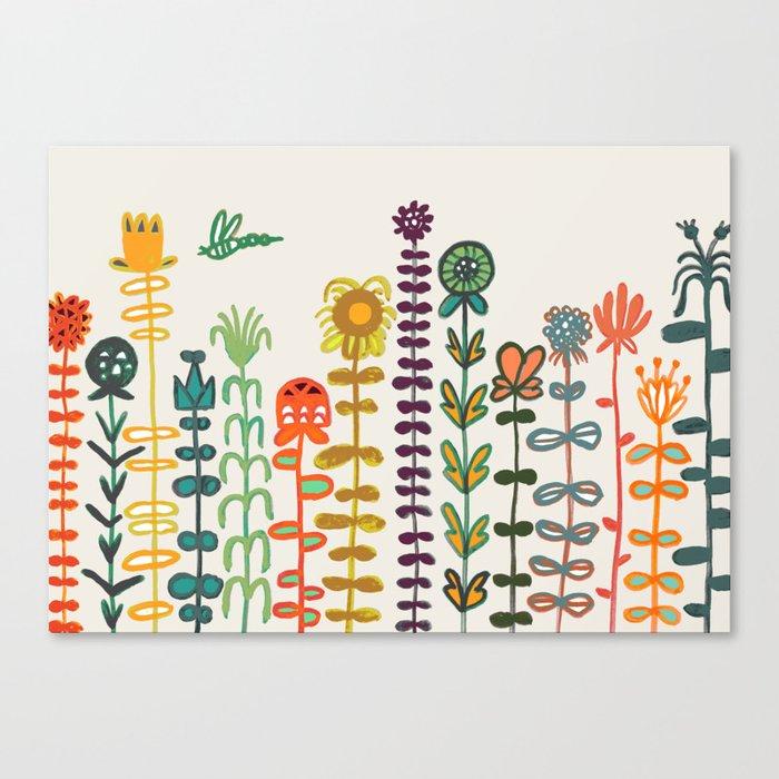 Happy garden Leinwanddruck