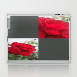 Red Rose Edges Blank Q6F0 Laptop & iPad Skin