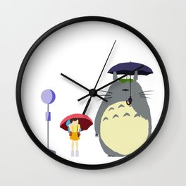 Rain scene from HayaoMiya.. Wall Clock