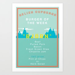 Burger Of The Week Art Print