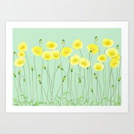Yellow Wildflowers II Art Print