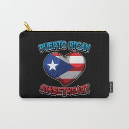 Puerto Rican Sweetheart - Boricua Heart Carry-All Pouch