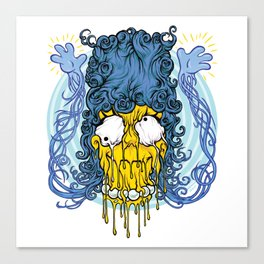 Melting Head of Marge Simpson Canvas Print