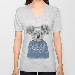 Winter koala Unisex V-Neck