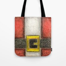 Santa Front & Belt Tote Bag