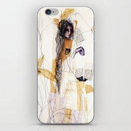 black papership iPhone Skin