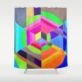 Spiral Hex Shower Curtain