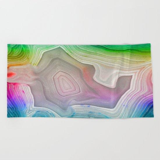 MINERAL RAINBOW Beach Towel