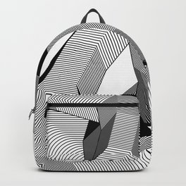 Abstract Geometric 3D Heart Backpack