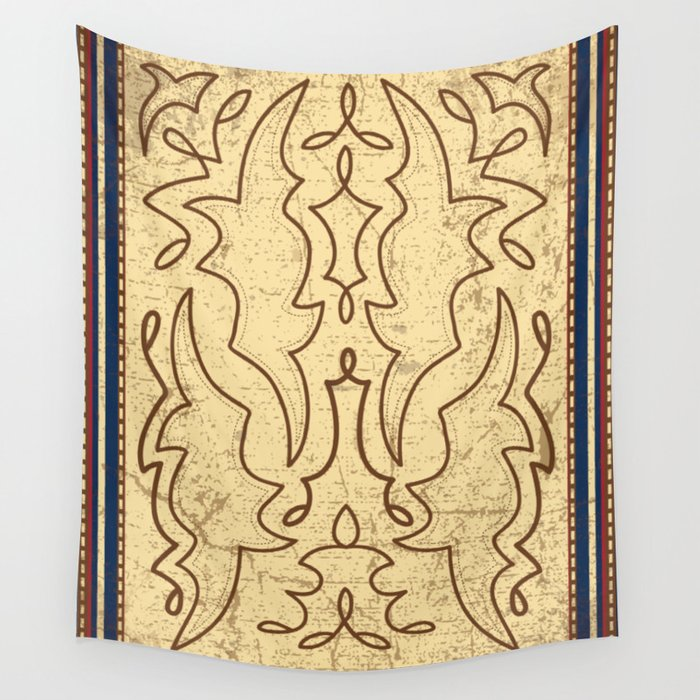 Country Cowboy Boot Vintage Print Wall Tapestry