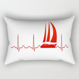 Sailing Heartbeat Rectangular Pillow