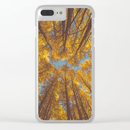 forest in autumn #society6 #decor #buyart Clear iPhone Case