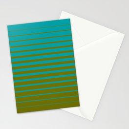 gradient stripes aqua olive Stationery Cards