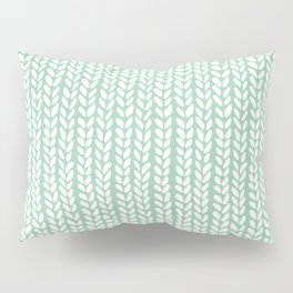 Knit Wave Mint Pillow Sham