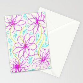 Flowers in the Lake Stationery Cards