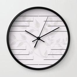 Bon Jour Leave Mass Wall Clock