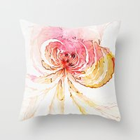 blossom Throw Pillows featuring Blossom by Amanda Moore