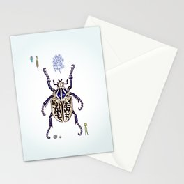 Happy Goliath beetle Stationery Cards