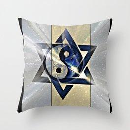 Jewish Yin Yang Throw Pillow