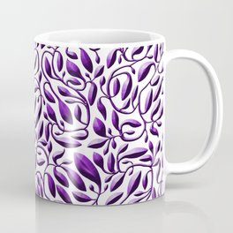 Purple Leaf Weave Coffee Mug