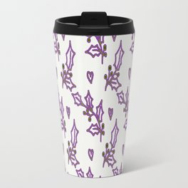 Holly Berries In The Snow Travel Mug