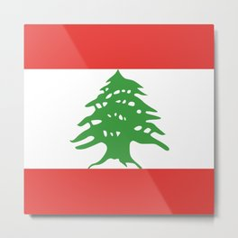 Lebanon flag emblem Metal Print