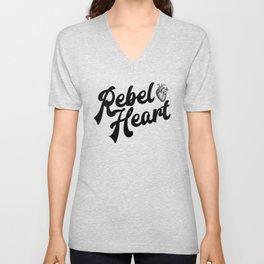 Rebel Heart Human Heart A354 Unisex V-Neck
