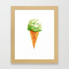 Happy Ice cream Framed Art Print