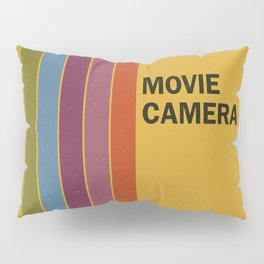 Retro Movie Camera Color Palette Pillow Sham