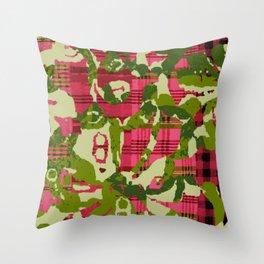 batik screen Throw Pillow