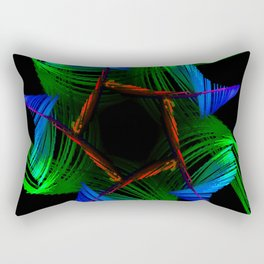 Flower Abstract Rectangular Pillow