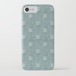 triple dash - dusty blue iPhone Case