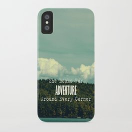 She Looks for Adventure  iPhone Case