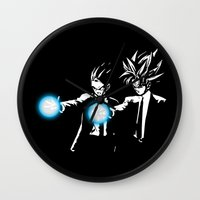 dbz Wall Clocks featuring DBZ Fiction by orangpalsu