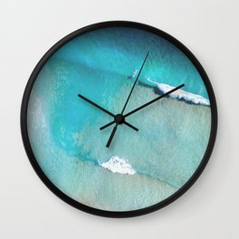 Surfing The Wave Wall Clock