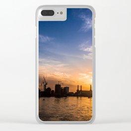 Twilight Skyline Clear iPhone Case