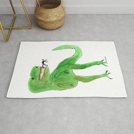 Dinosaur and Tiny Man Rug