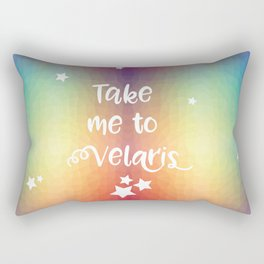 Take Me To Velaris - Night Court Print -A Court of Mist and Fury Rainbow Rectangular Pillow