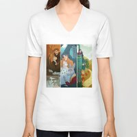 shakespeare V-neck T-shirts featuring Shakespeare by Supergna