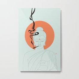 Buddha : Give Peace a Chance! Metal Print