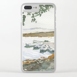 The Boats Are Singing Clear iPhone Case
