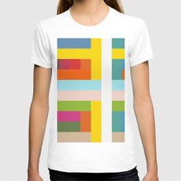 Unicorn - Abstract Colorful Stripes Grid T-shirt
