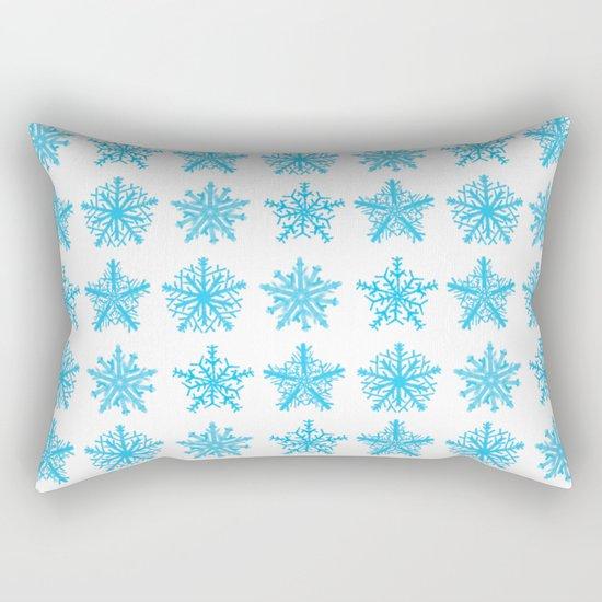Sky Blue Star Pattern Rectangular Pillow