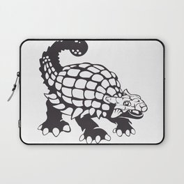Ankylosaurus Dinosaur Prehistoric Black and White Laptop Sleeve