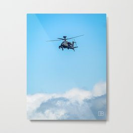 Apache Helicopter. Metal Print