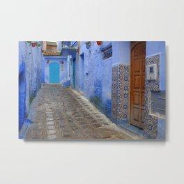 Blue Walls of Chefchaouen Metal Print