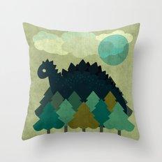 BLUE DINO Throw Pillow
